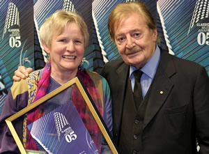 Anne Boyd and Peter Sculthorpe at the 2005 Classical Music Awards